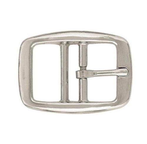 Dog collar buckle, nickel, silver