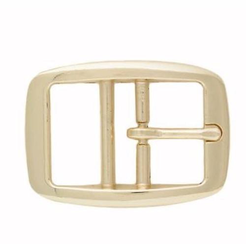 "1"" brass plated dog collar buckle, gold"