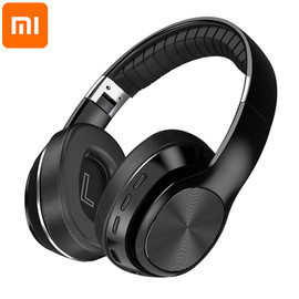 Xiaomi NEW HiFi Foldable Headset Wireless Headphones BluetoothSupport TF Card/FM Radio/Bluetooth AUX Stereo Headset With Mic|Bluetooth Earphones & Headphones|