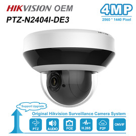 Hikvision OEM 4MP PTZ IP Camera POE 4X Optical Zoom 2.8~12mm Lens with One way Audio VidoeCam IR 20m IP66 H.265+ PTZ N2404I DE3|Surveillance Cameras|