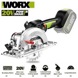 Worx 20V Circular Saw WU533 Brushless Electric Saw Installation Diam 20*120mm 0 45° Bevel 6900RPM 1.7Kg Bare Tool Free Return|Electric Saws|