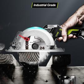 WORX 20V Cordless Circular Saw 120mm WU533/140mm WU535 Brushless Motor 45 /90 Degree Cutting Lithium Battery Power Tool|Electric Saws|