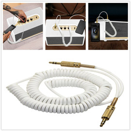 3.5 mm audio AUX Cable Spring Coiled Stereo Auxiliary Cable Charging Cable For MARSHALL Woburn Wireless Bluetooth Speaker| |