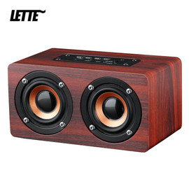 Bluetooth Wooden Bass Speaker AUX Input TF Card Playback Wireless Subwoofer Portable Bass Column|Portable Speakers|