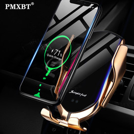 Smart Sensor Car Wireless Charger 10W Qi Fast Charging Intelligent Infrared Automatic Clamping Phone Holder For iPhone 8