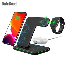 DataRoad 2020 New Mobile Wireless Phone Charger 3 in 1 Wireless Desktop Charger Station For Earphones and Smartwatch|Wireless Chargers