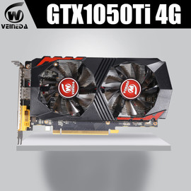 Video Card GTX1050Ti for Computer Graphic Card PCI E GTX1050Ti GPU 4GB 128Bit 1291/7000MHZ DDR5 for nVIDIA Geforce Game|Graphics Cards