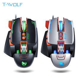 NEW V9 USB Wired Programmable Gaming Mouse 3200DPI Adjustable Backlight 8 Custom Button Mechanical Gaming Mice for Pro Gamer/LOL|Mice