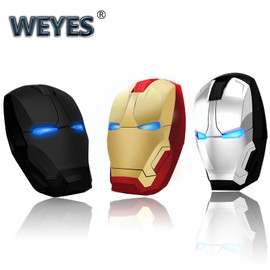 Iron Man Mouse Wireless Mouse Gaming Mouse Gamer Computer Mice Button Silent Click 800/1200/1600/2400DPI Adjustable computer|Mice