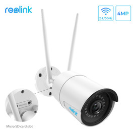 Reolink 4MP ip camera wifi 2.4G/5G outdoor HD IP Cam Wireless Weatherproof Security Night Vision Camera RLC 410W|hd ip cam|ip camsecurity cam