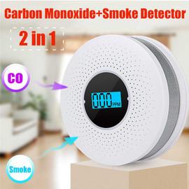 Newest 2 in 1 LED Digital Gas Smoke Alarm Co Carbon Monoxide Detector Voice Warn Sensor Home Security Protection High Sensitive Carbon Monoxide Detectors