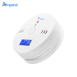 Independent Carbon Monoxide Sensor Detector CO Alarm with Digital LCD Display and 85dB Voice Warning Battery Operated White Carbon Monoxide Detectors