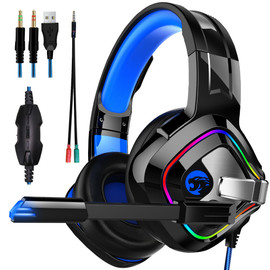 JOINRUN PS4 Gaming Headphones 4D Stereo RGB Marquee Earphones Headset with Microphone for New Xbox One/Laptop/PC Tablet Gamer|Phone Earphones & Headphones