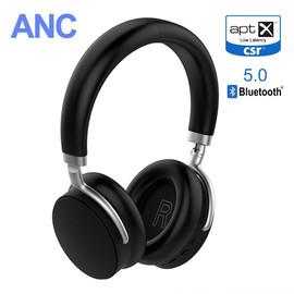 VIKEFON AptX Low Latency/LL Bluetooth 5.0 Headphones ANC Active Noise Cancelling Wireless Headset with Super HiFi Deep Bass 20H|Phone Earphones & Headphones