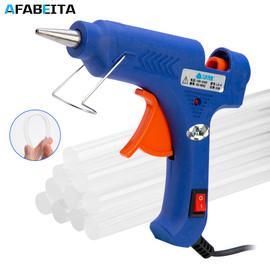 20W/100W Hot Melt Glue Gun With 7mm Glue Sticks Industrial Mini Guns Thermo Electric Heat Temperature Repair Tool DIY Glue Guns