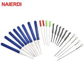 12PCS NAIERDI Locksmith Hand Tools Supplies Lock Pick Set Broken Key Auto Extractor Removal Hooks Stainless Steel Tool Hardware|Locksmith Supplies
