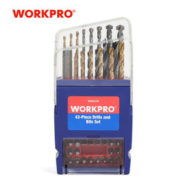 WORKPRO 43PC Drill Bits Set for Concrete Brick Wood Glass Ceramic Tile Plastic|Drill Bits