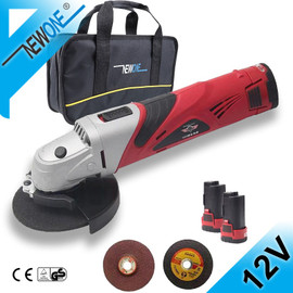 HEPHAESTUS 12V 2A Cordless Angle Grinder M10 Grinding Machine Polisher Cutting Soft Metal Wood Electric DC Power Tool|Grinders