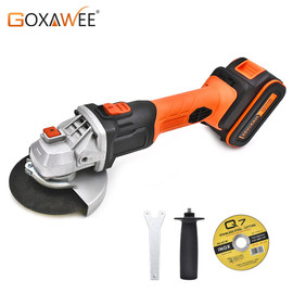 GOXAWEE 20V Cordless Angle Grinder 4000mAh/3000mAh Lithium Ion Electric Angle Cutting Grinding Tool Sanding Machine Power Tool|Grinders