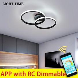 Black&White Led Ceiling Light For Living room Bedroom Corridor Foyer Lustre Home Lighting Ceiling Lamp Metal Body Luminaires|Ceiling Lights