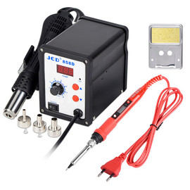 JCD Soldering station 858D 700W LCD Digital welding solder rework station 220V/110V Soldering iron hot air gun SMD repair tools|Soldering Stations