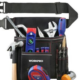 WORKPRO Heavy Duty Tool Pouch with Adjustable Belt Electrician Waist Tool Bag Multifunction Belt Tool Pouch belt tool pouch tool pouchwaist tool bag