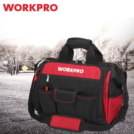 "WORKPRO 16"" Open Top Tool Storage Bag Multifunctional Heavy Duty Tool Bag Men Crossbody Bag for Tools