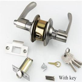 Bedroom Passage Door Lock Zinc Alloy Simple Toilet Copper Door Handle Mortise Locks Household Pure Copper Hardware Tool with Key|Door Locks