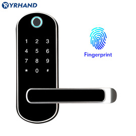 TTlock app fingerprint smart lock, wifi App waterproof button pincode Keypad electronic door lock, biometric remote control lock|Electric Lock