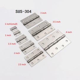 More authentic 304 stainless steel door hinge small cupboard door hinge 1/1.5/2/2.5/3.5 inch 4 inches|Door Hinges