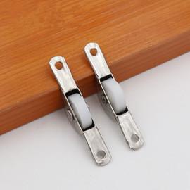 1 Pair Single Sliding Door Wheels Rollers Bottom Wheel Fixed Nylon Caster Pulley Runners Window Drawer Furniture Hardware|Door Rollers