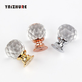 YNIZHURE Brand Design 20mm Crystal Ball Glass Knobs Cupboard Drawer Pull Kitchen Cabinet Door Wardrobe Handles Hardware|Cabinet Pulls