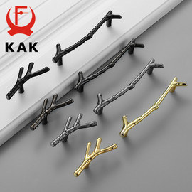 KAK Fashion Tree Branch Furniture Handle 96mm 128mm Black Silver Bronze Kitchen Cabinet Handles Drawer Knobs Door Pulls Hardware|furniture hardware|pull knobknobs furniture