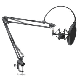 Microphone Scissor Arm Stand Bm800 Holder Tripod Microphone Stand With A Spider Cantilever Bracket Universal Shock Mount|Mic Stand
