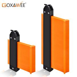 GOXAWEE 5/10 Inch Contour Gauge Plastic Profile Copy Measuring Contour Gauge Tiling Laminate Tiles Edge Shaping Measure Ruler|Gauges