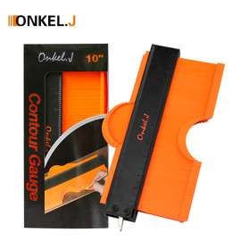 ONKEL.J Brand Lock Wider Contour Gauge Profile Tool Alloy Edge Shaping Wood Measure Ruler Laminate Tiles Meethulp Gauge|Gauges