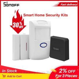 Itead SONOFF RF Bridge 433Mhz RF PIR2 Motion Sensor DW1 Door & Window Alarm System For Smart Home Alarm Security Work with Alexa|Home Automation Kits