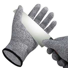 Tempdown Grade 5 HPPE Anti Scratch Anti Cut Proof Gloves Slaughter Woodworking Kitchen Garden Fishing Cut Resistant Gloves FG01|Safety Gloves
