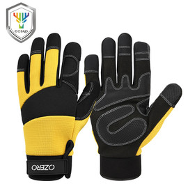 OZERO Mechanical Work Gloves Flex Extra Grip Unisex Working Welding Safety Protective Garden Sports Gloves 9022|Safety Gloves