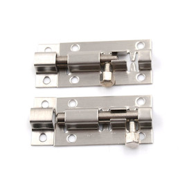 2pcs/lot 2 Inch Length Stainless Steel Door Latch Sliding Lock Barrel Bolt Silver Door Latch Bolts|door latch bolt|latch boltbarrel bolt