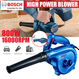 Bosch Electric Handheld Cordless Air Blower Vacuum Dust Cleaner 800W Leaf House Cleaning Blowing And Suction For Woodworking|Blowers