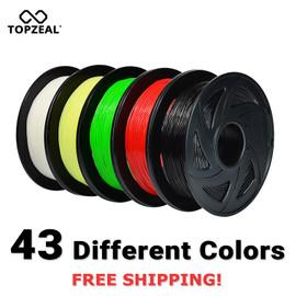 TOPZEAL 3D Printer PLA Filament 1.75mm Filament Dimensional Accuracy +/ 0.02mm 1KG 343M 2.2LBS 3D Printing Material for RepRap|3D Printing Materials