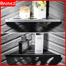 Bathroom Shelf Corner Wall Hanging Rack Stainless Steel Bathroom Shelves Shampoo Storage Holder Cosmetic Shower Caddy Rack Black|Bathroom Shelves