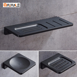 Space Aluminum Black Soap Dish Wall Mounted Bathroom Accessories Product Soap Dish Holder Free Shipping|soap dish holder|soap dish walldish soap holder