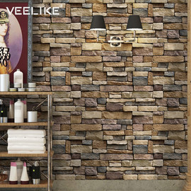 3D Brick Wallpaper Living Room Decoration Paper Kitchen Waterproof Self adhesive Wall Sticker Bedroom Moisture Proof Wallpapers|Wallpapers