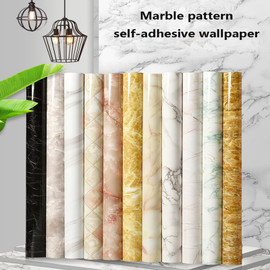 PVC Marble Self adhesive White Wallpaper Mural Kitchen Bathroom Bar Wall Sticker Furniture Waterproof Desktop Sticker Home Decor|Wallpapers