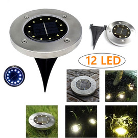 8/10/12LED Solar Power Buried Light Under Ground Lamp Outdoor Path Way Garden Decking White Warm White Light Landscape Lights|Outdoor Landscape Lighting