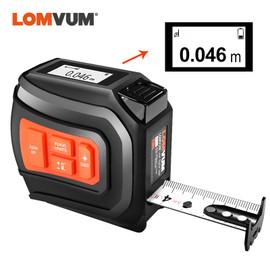 LOMVUM LTM USB Rechargeable Laser Tape Laser Distance Meter Real Time Dada 40/60m Laser Rangefinder 5m Tape LCD Digital NEW|Laser Rangefinders