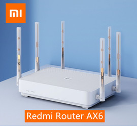 Xiaomi Redmi Router AX6 Wifi 6 6 Core 512M Memory Mesh Home IoT 6 Signal Amplifier 2.4G 5GHz 2+4 PA Auto Adapted Dual Band Home Automation Modules