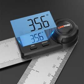 LOMVUM Digital Protractor Angle Ruler 400mm 360 Degree Angle Measuring Metric British System Electronic Goniometer Inclinometer|Protractors